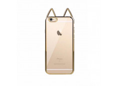 Coque iPhone 7 Plus Gold Cat Ears