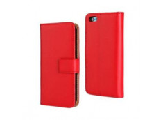 Etui iPhone 6/6S Leather Wallet- Rouge