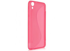 Coque HTC Desire 820 Silicone Grip Rose
