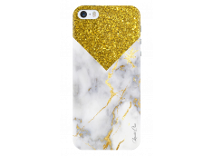 Coque iPhone 5C Gold Glitter and Marble