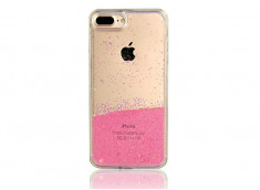 Coque iPhone X Liquid Pearls-Clear Pink