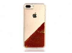 Coque iPhone 7/ iPhone 8 Liquid Pearls-Orange