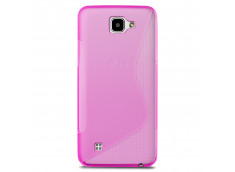 Coque LG K4 Silicone Grip-Rose