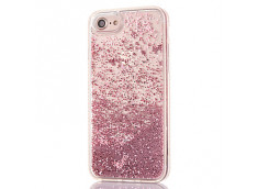 Coque iPhone X Liquid Pearls-Rose