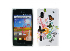 Coque LG Optimus L5 Retro Butterfly