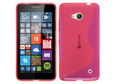 Coque Microsoft Lumia 640 Silicone Grip-Rose