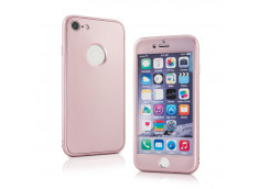 Coque iPhone 5/5S/SE Full Cover Mat-Rose Gold