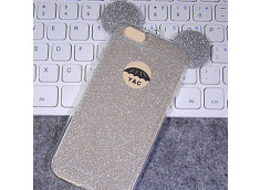 Coque iPhone 7 Glitter Mickey-Argent