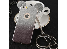 Coque iPhone 6 Plus/6S Plus Glitter Mickey-Noir