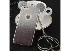 Coque Samsung Galaxy S6 Edge Glitter Mickey-Noir