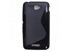 Coque Sony Xperia E4 Silicone Grip-Noir
