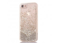 Coque iPhone X Liquid Pearls-Argent