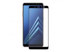 Film protecteur Samsung Galaxy A8 2018 en verre trempé (FULL GLUE) - Noir