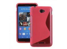 Coque Sony Xperia E4 Silicone Grip-Rose