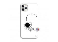 Coque iPhone 11 PRO MAX Astro Girl Silicone Blanc