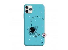 Coque iPhone 11 PRO MAX Astro Girl Silicone Bleu