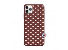 Coque iPhone 11 PRO MAX Little Hearts Silicone Bordeaux