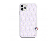 Coque iPhone 11 PRO MAX Little Hearts Silicone Lilas