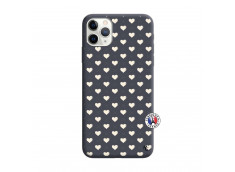 Coque iPhone 11 PRO MAX Little Hearts Silicone Navy
