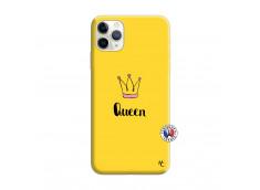 Coque iPhone 11 PRO MAX Queen Silicone Jaune