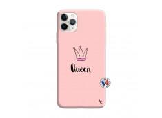 Coque iPhone 11 PRO MAX Queen Silicone Rose