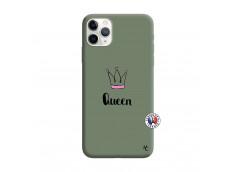 Coque iPhone 11 PRO MAX Queen Silicone Vert