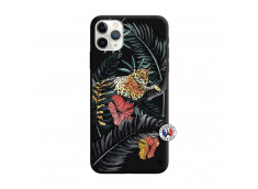 Coque iPhone 11 PRO MAX Leopard Tree Silicone Noir