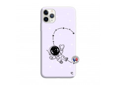 Coque iPhone 11 PRO Astro Girl Silicone Lilas
