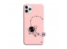 Coque iPhone 11 PRO Astro Girl Silicone Rose