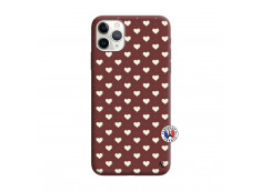 Coque iPhone 11 PRO Little Hearts Silicone Bordeaux