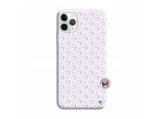 Coque iPhone 11 PRO Little Hearts Silicone Lilas