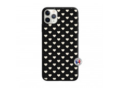 Coque iPhone 11 PRO Little Hearts Silicone Noir