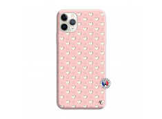 Coque iPhone 11 PRO Little Hearts Silicone Rose