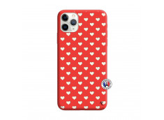 Coque iPhone 11 PRO Little Hearts Silicone Rouge