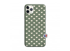 Coque iPhone 11 PRO Little Hearts Silicone Vert