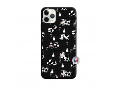 Coque iPhone 11 PRO Cow Pattern Silicone Noir
