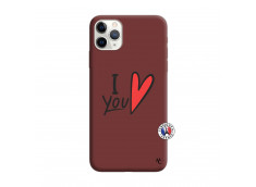 Coque iPhone 11 PRO I Love You Silicone Bordeaux