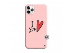 Coque iPhone 11 PRO I Love You Silicone Rose