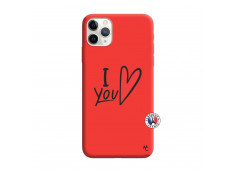 Coque iPhone 11 PRO I Love You Silicone Rouge