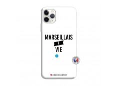 Coque iPhone 11 PRO Marseillais à Vie Silicone Blanc