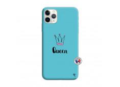 Coque iPhone 11 PRO Queen Silicone Bleu
