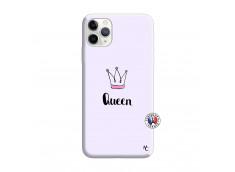 Coque iPhone 11 PRO Queen Silicone Lilas