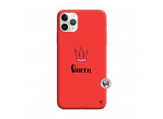 Coque iPhone 11 PRO Queen Silicone Rouge