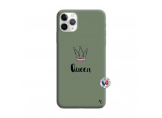 Coque iPhone 11 PRO Queen Silicone Vert