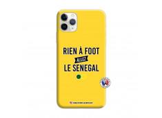 Coque iPhone 11 PRO Rien A Foot Allez Le Senegal Silicone Jaune