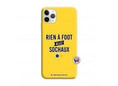 Coque iPhone 11 PRO Rien A Foot Allez Sochaux Silicone Jaune