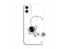 Coque iPhone 11 Astro Girl Silicone Blanc