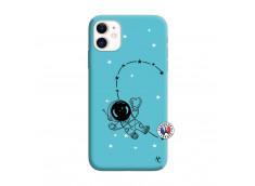 Coque iPhone 11 Astro Girl Silicone Bleu