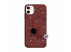 Coque iPhone 11 Astro Girl Silicone Bordeaux