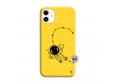 Coque iPhone 11 Astro Girl Silicone Jaune